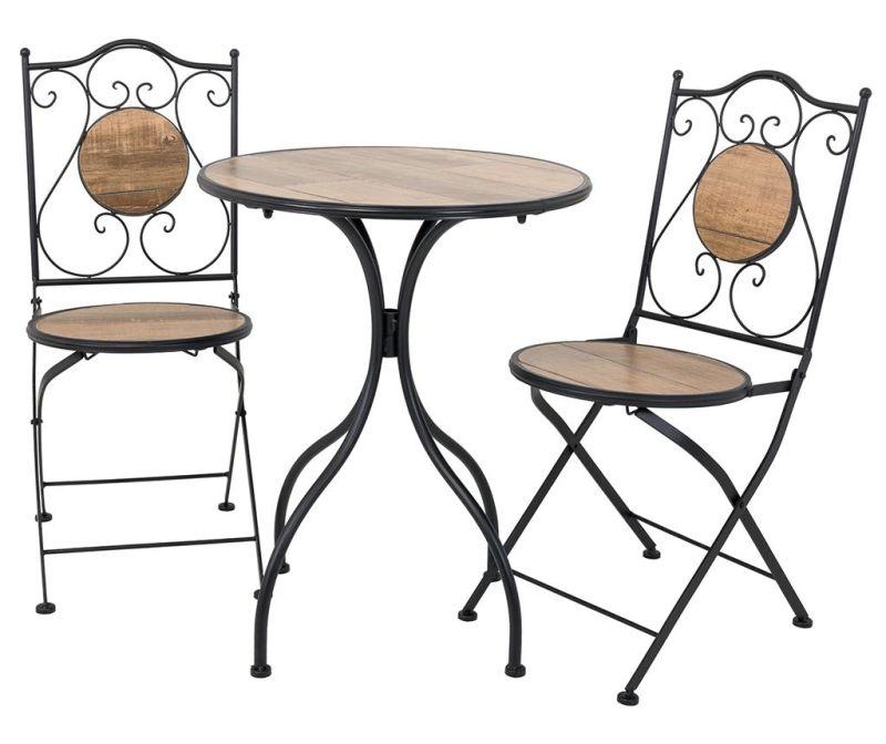 Set - vrtna miza in 2 vrtna stola Wood Pattern