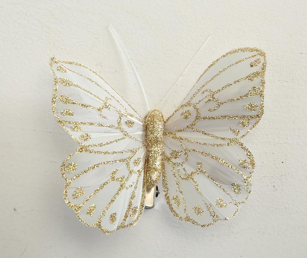 Set 2 decoratiuni cu clips Butterfly Cream