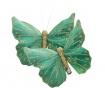 Set 2 decoratiuni cu clips Butterfly Green