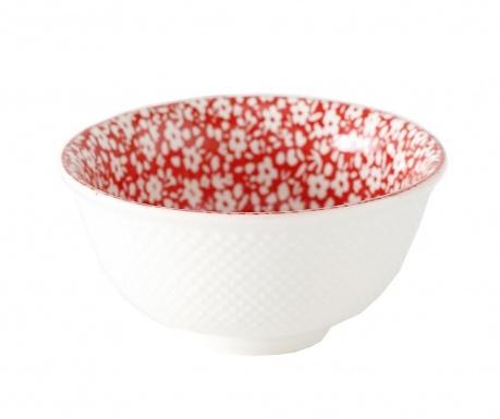 Fleuri Red Mély tál 350 ml