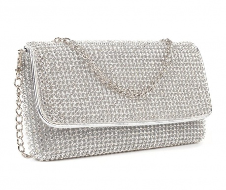 Virginia Argento Clutch táska