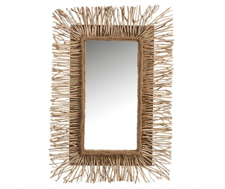 Zrkadlo Ethnic Rectangular Natural White