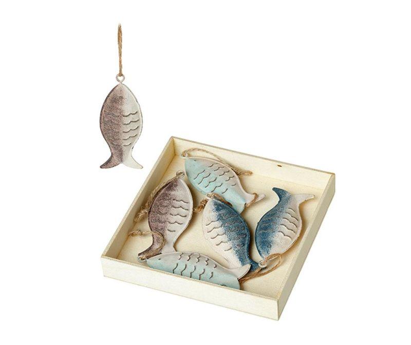 Set 6 decoratiuni suspendabile Fish