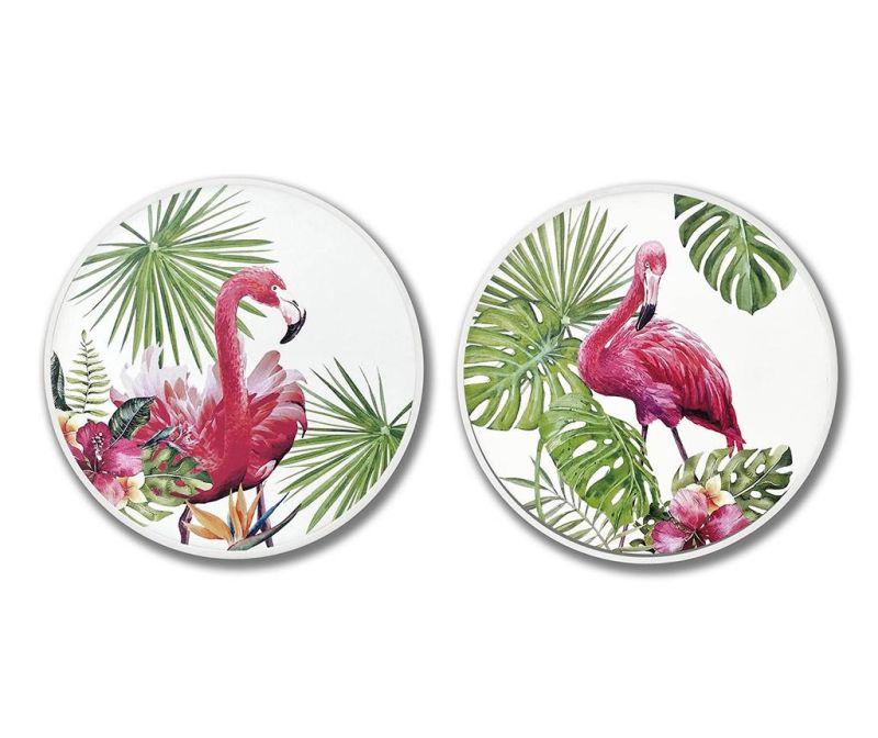 Sada 2 obrazov Jungle Flamingo 60 cm