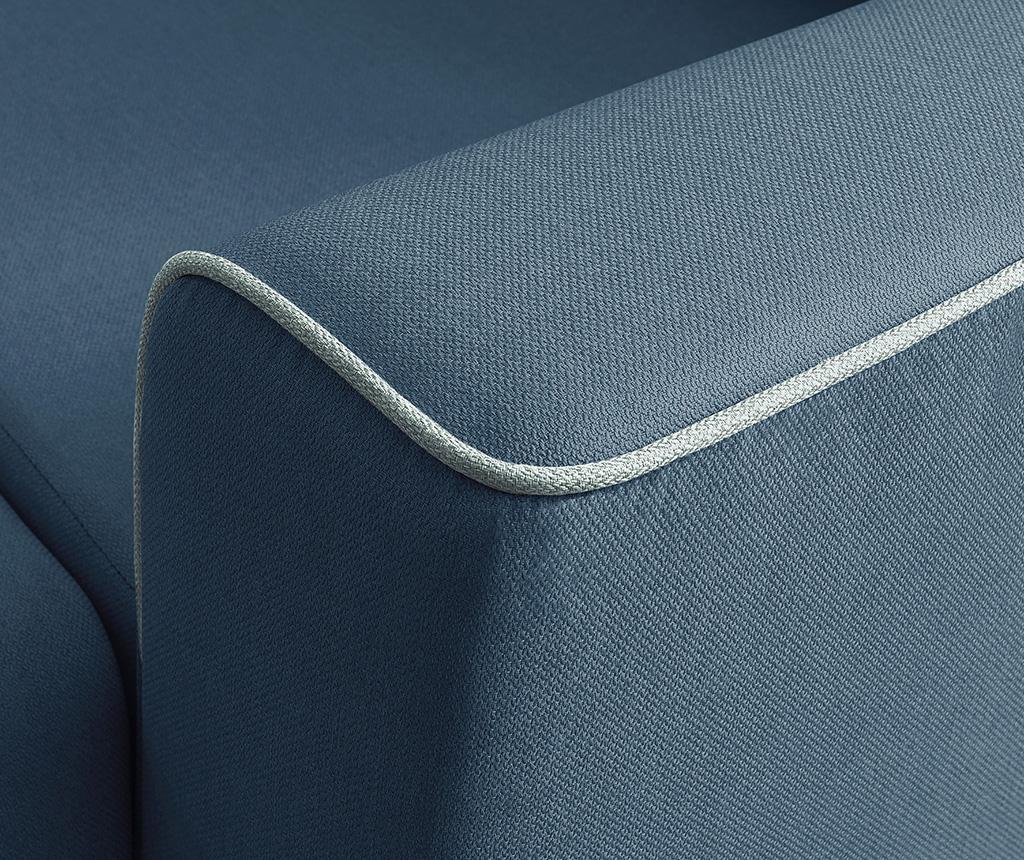 Raztegljiva desna kotna sedežna garnitura Mola Navy Blue
