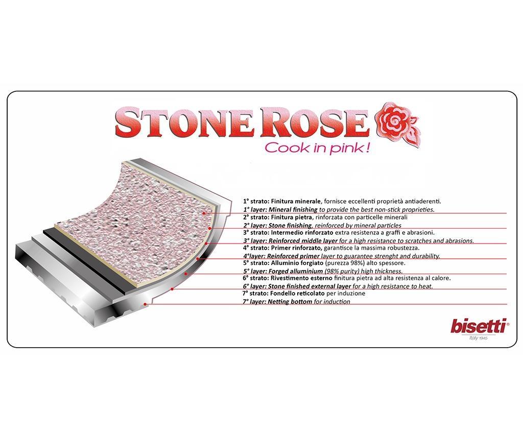 Stonerose Shiny Serpenyő fedővel 20 cm