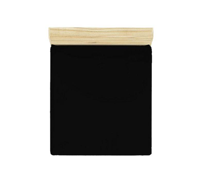 Rjuha z elastiko Ranforce Basic Black 160x200 cm