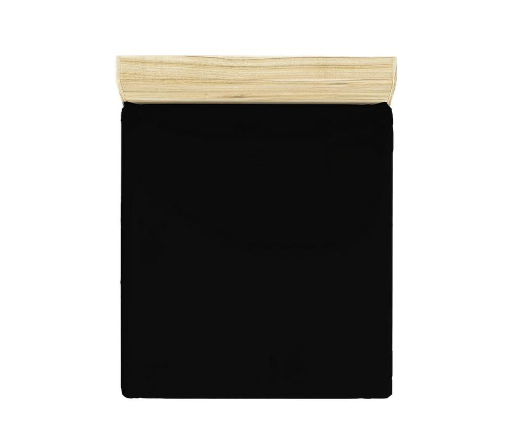 Rjuha z elastiko Ranforce Basic Black 180x200 cm