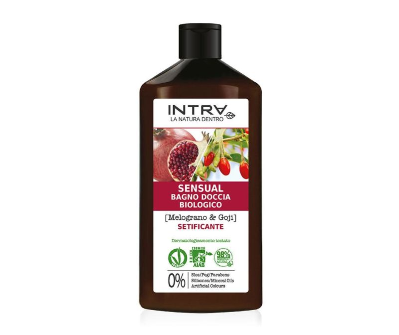 Organski gel za tuširanje Silkening Pomegranate&Goji 400 ml