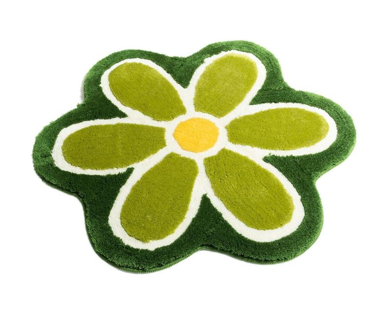 Kopalniška preproga Flower Green 90 cm