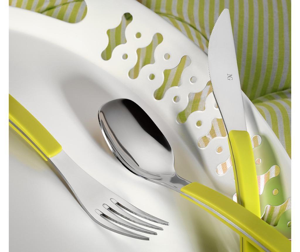 30-delni jedilni pribor Modern Green