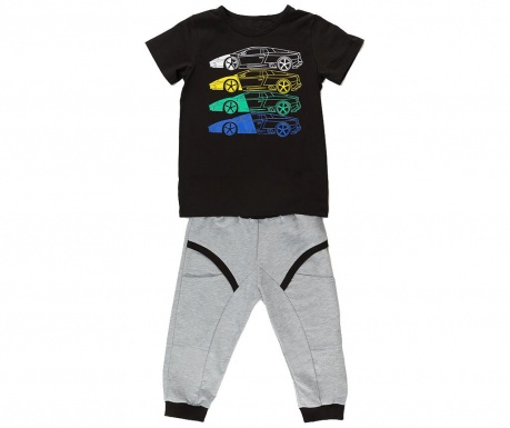 Σετ παιδική κοντομάνικη μπλούζα και παντελόνι Cars Baggy