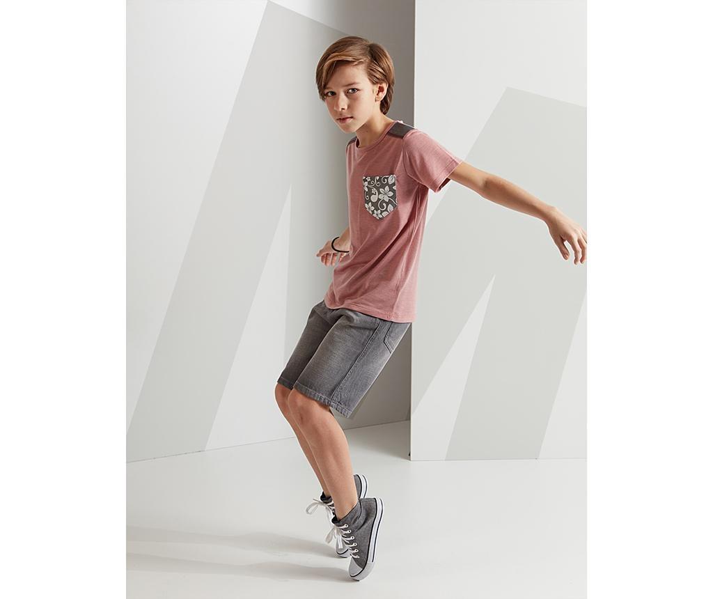 Set tricou si pantaloni scurti copii Flowered Pocket 7 ani