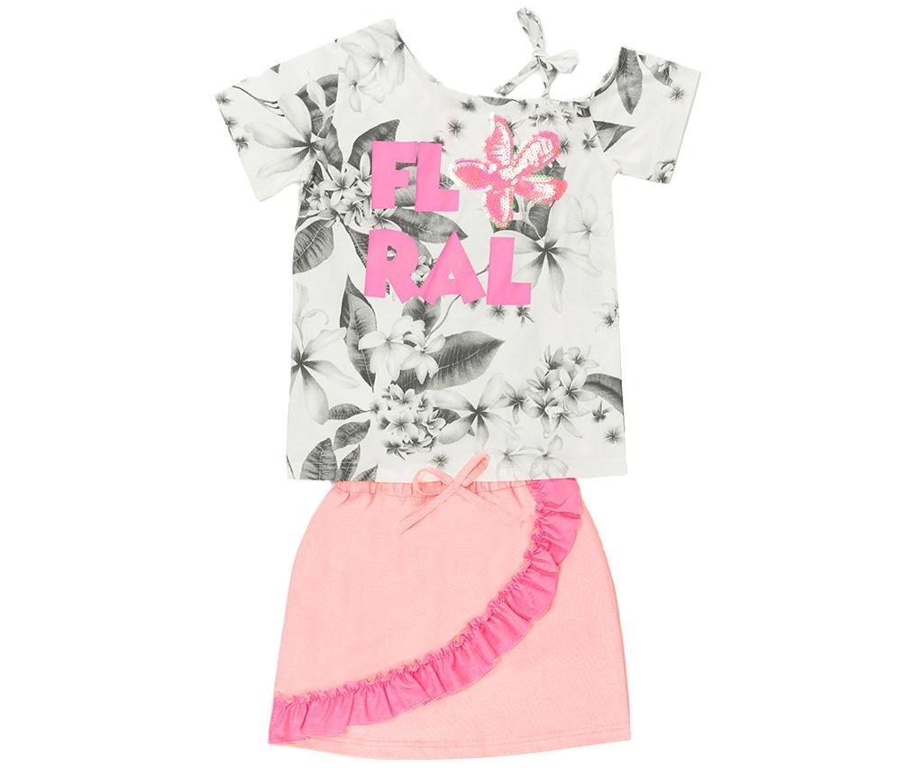 Set tricou si fusta copii Floral 9 ani