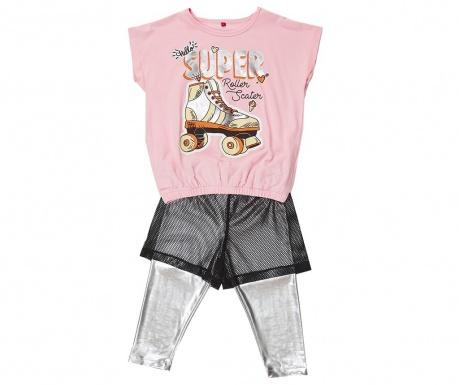 Σετ παιδική κοντομάνικη μπλούζα και κολάν Roller Skate