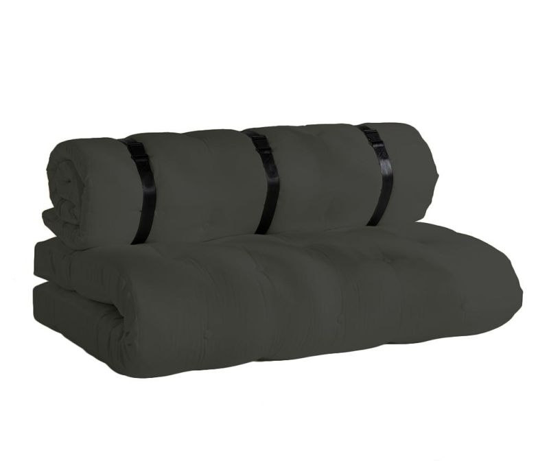 Rozkładana sofa zewnętrzna Buckle Up Out Dark Grey 140x200 cm