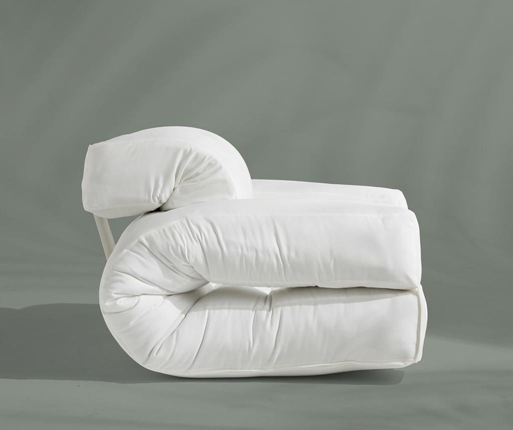 Raztegljiv zunanji fotelj Hippo Out White 90x200 cm