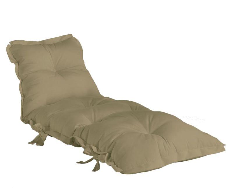 Materac do użytku zewnętrznego Sit and Sleep Out Beige 80x200 cm