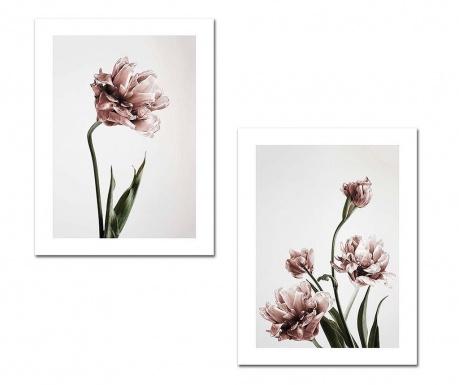 Set 2 slik Flowers 30x40 cm