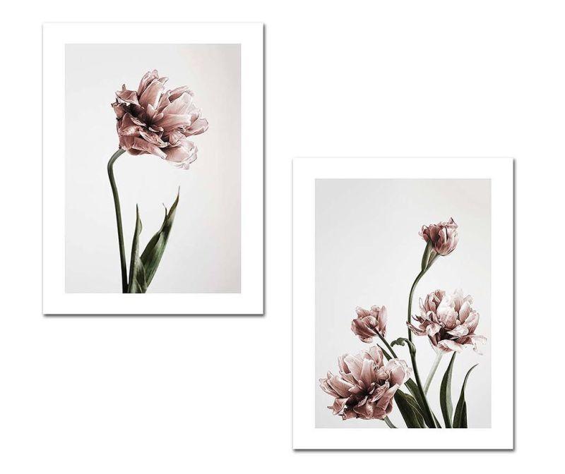Set 2 slike Flowers 30x40 cm