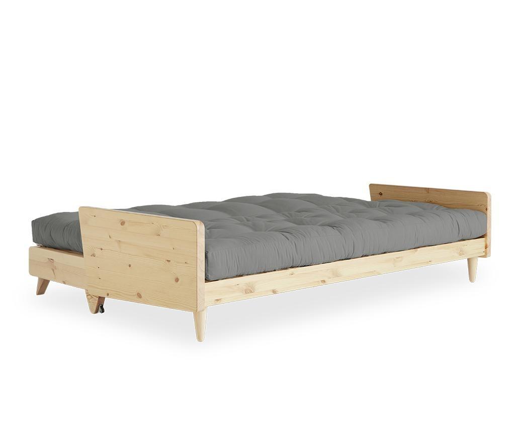 Sofa extensibila Indie Natural and Grey