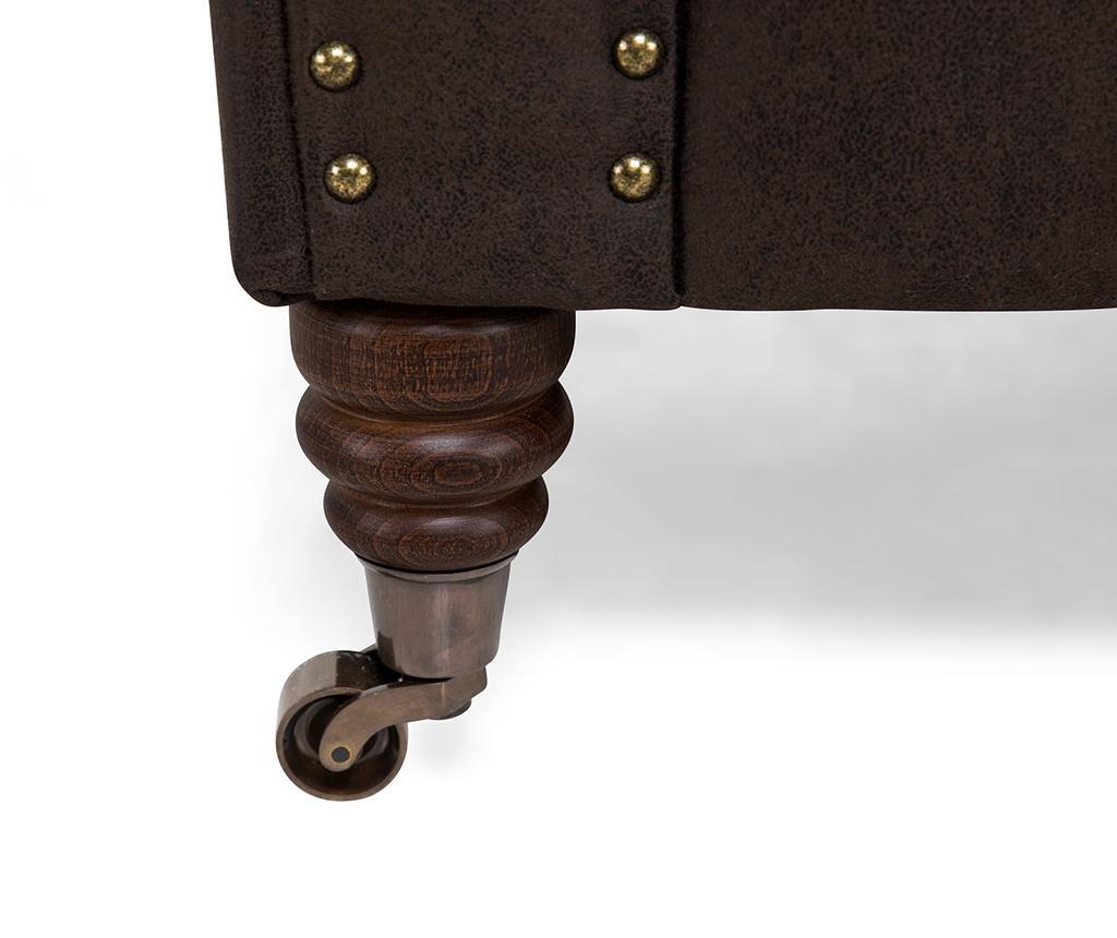 Chesterfield Vintage Brown Háromszemélyes kanapé