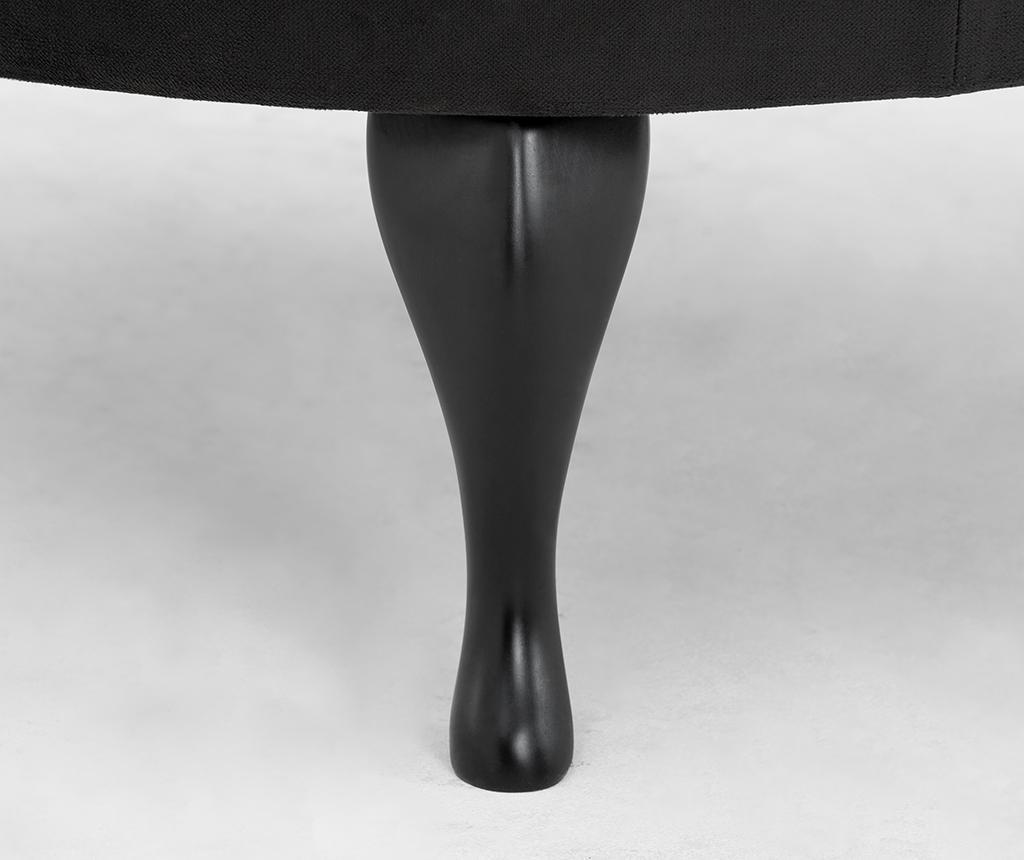 Stolčić za noge diYana Wide Black