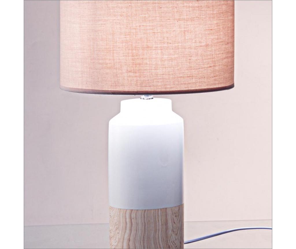 Lampa Rotterdam White Wooden
