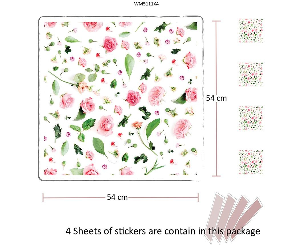 Flower Pattern 4 db Matrica