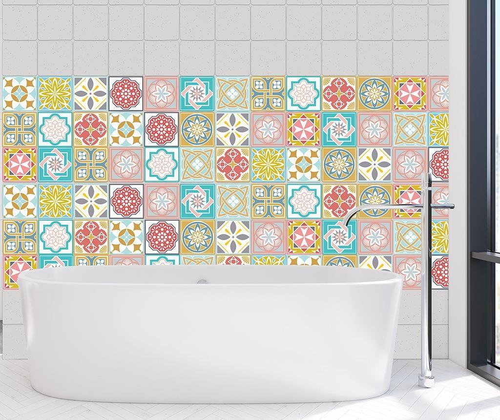 Set 24 naljepnica Malia Colorful Home Tiles
