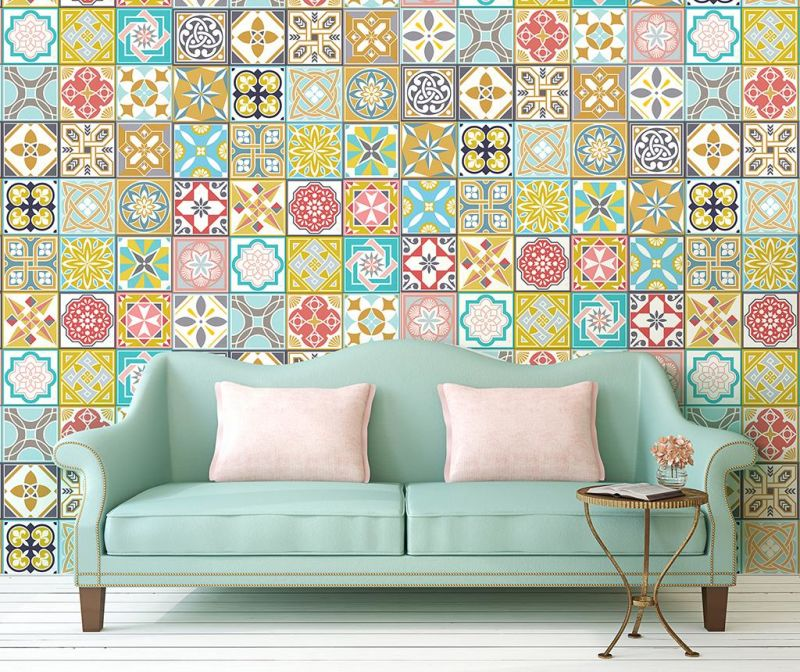 Set 24 nalepk Malia Colorful Home Tiles