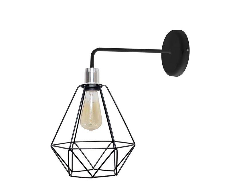 Stenska svetilka Karo Black