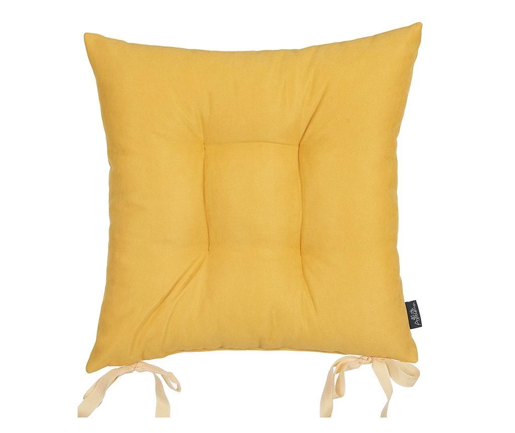 Vankúš na sedenie Bronx Yellow 37x37 cm