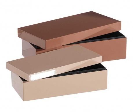 Комплект 2 кутии с капак Clear Shine Pink