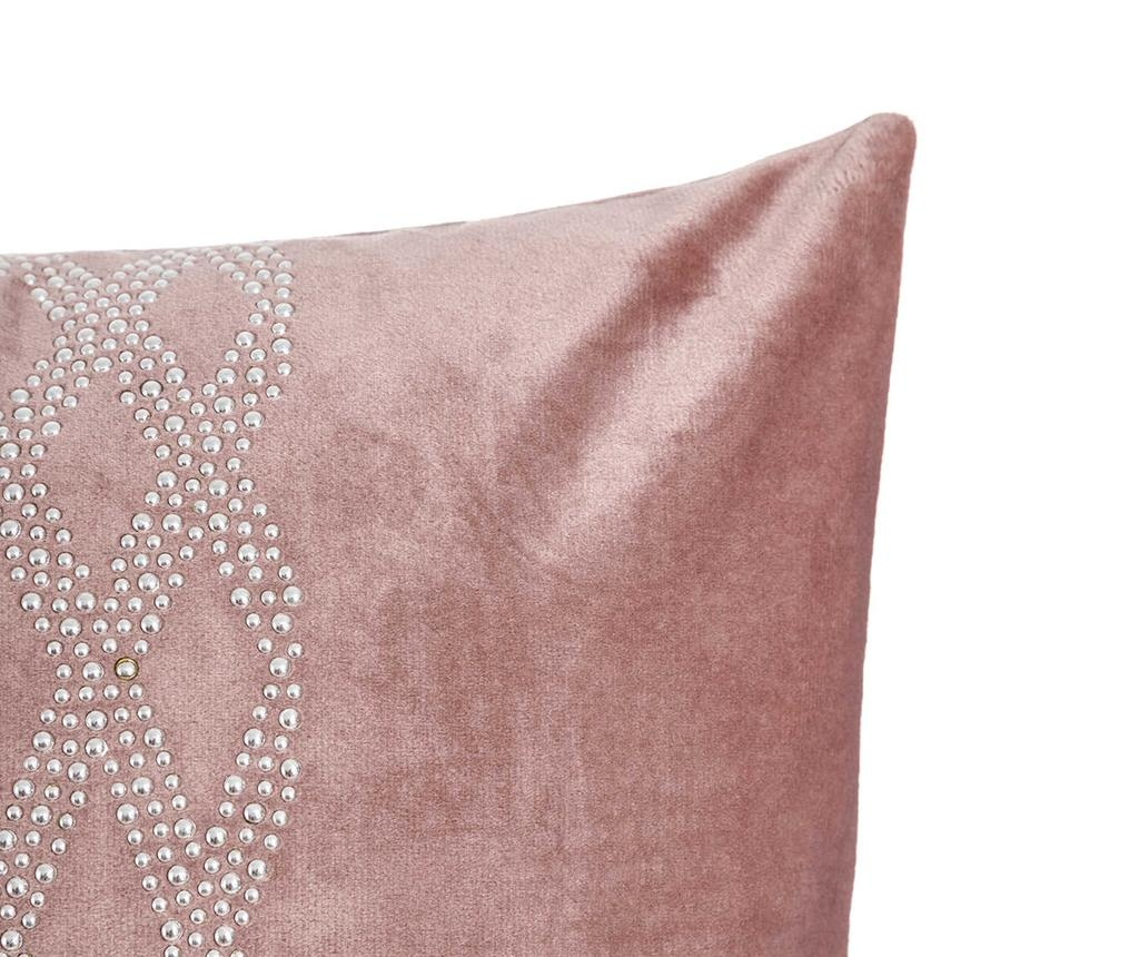 Perna decorativa Glam Stone Pattern Pink 43x43 cm