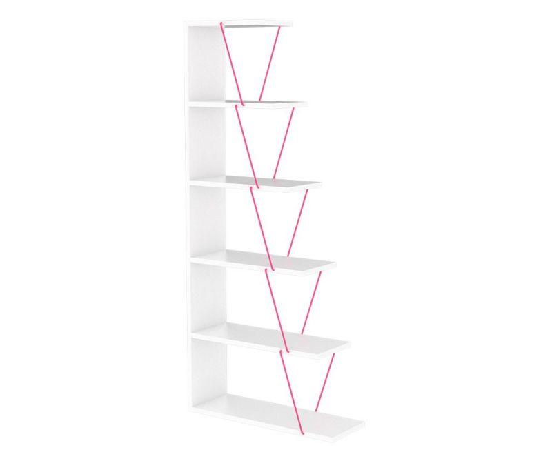 Nábytkový díl Tars White Pink