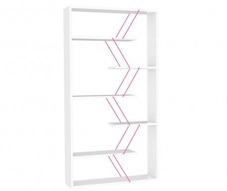 Knihovna Tars White Pink