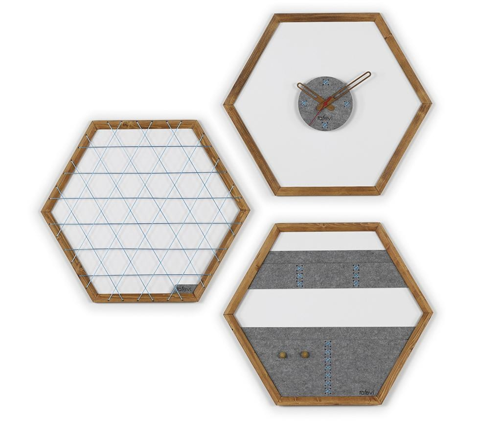Memo ploča, zidni sat i zidni organizator Tuva Blue