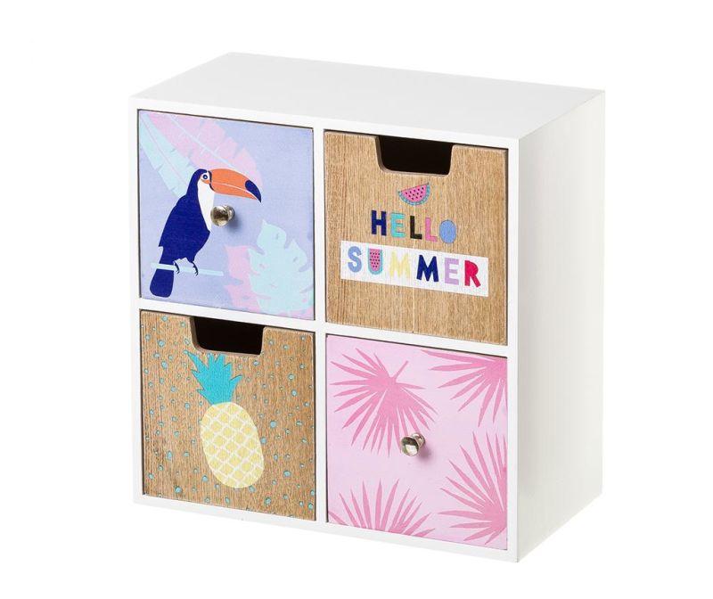 Škatla s 4 predali Toucan Summer