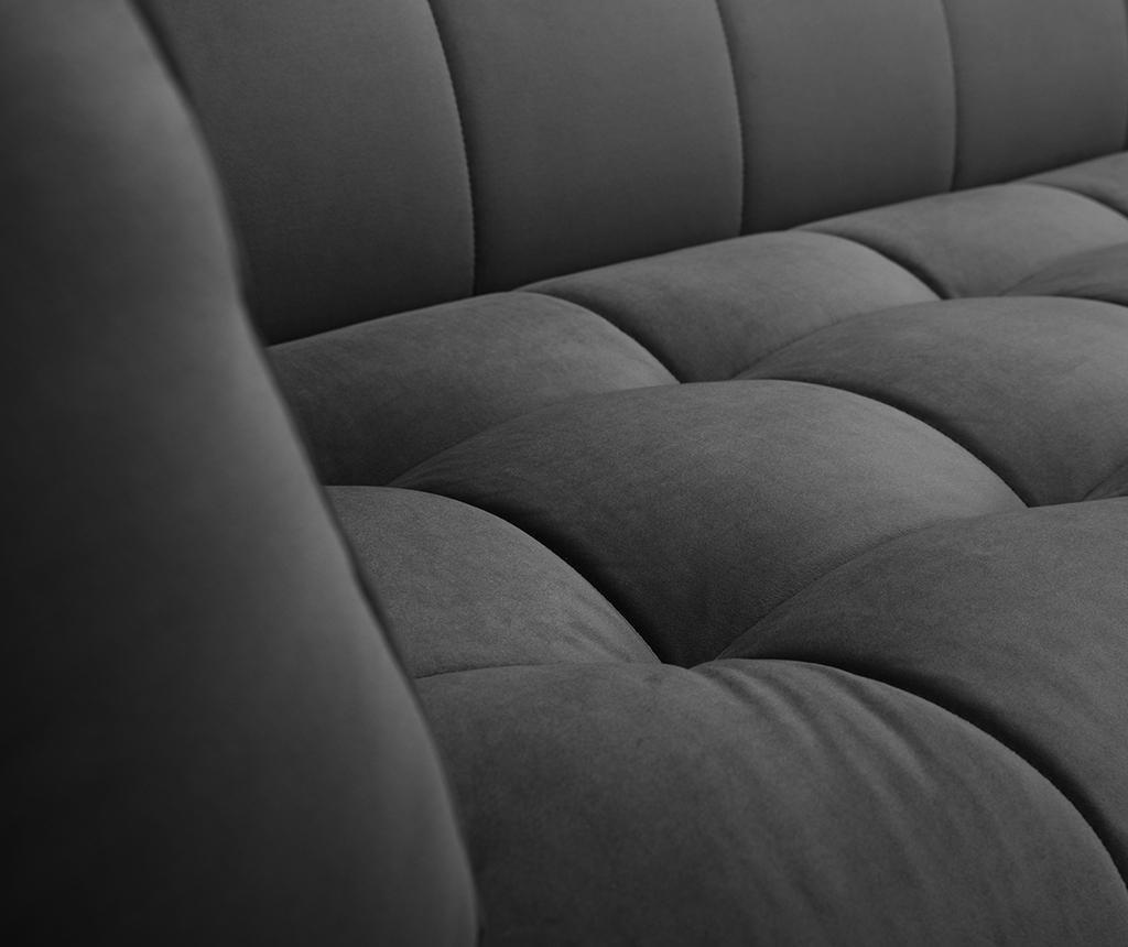 Canapea 3 locuri Etoile Dark Grey