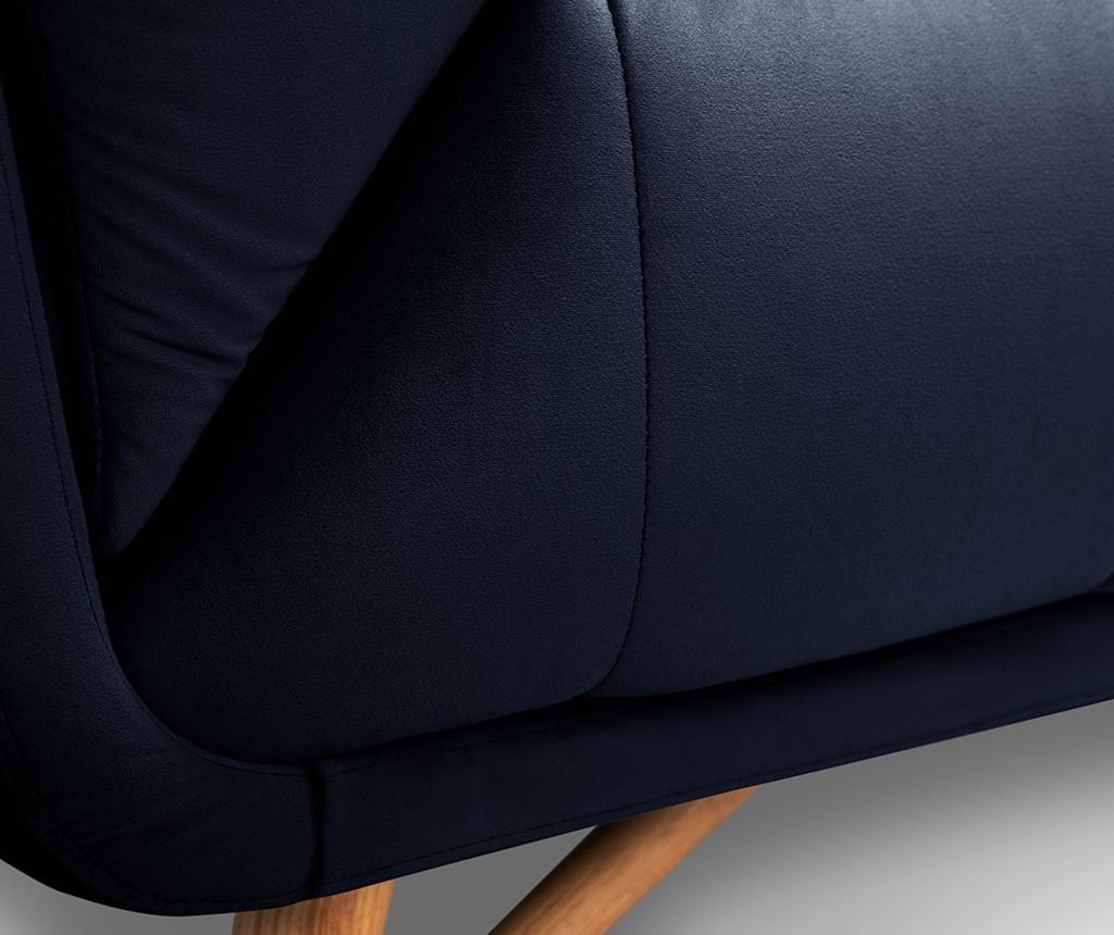 Canapea 3 locuri Etoile Navy Blue