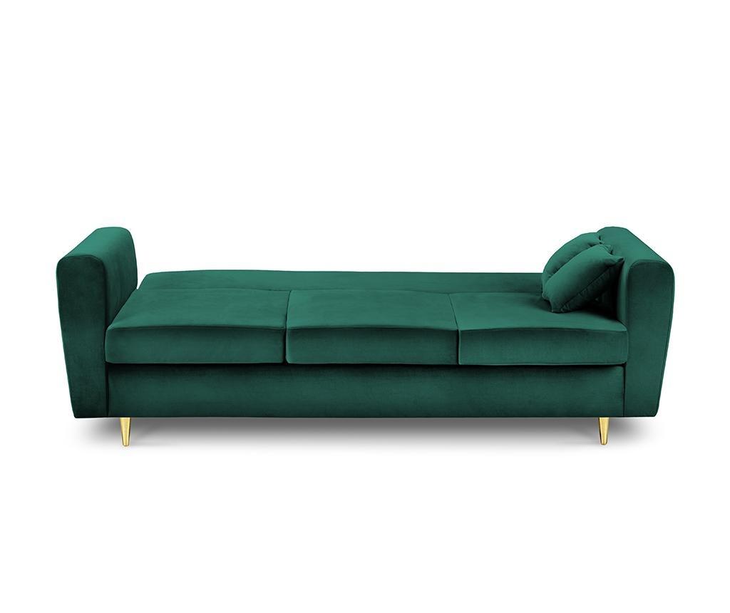 Kauč trosjed na razvlačenje Remy Bottle Green