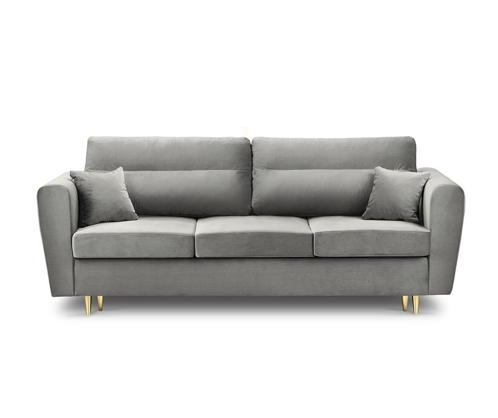 Canapea extensibila 3 locuri Remy Light Grey
