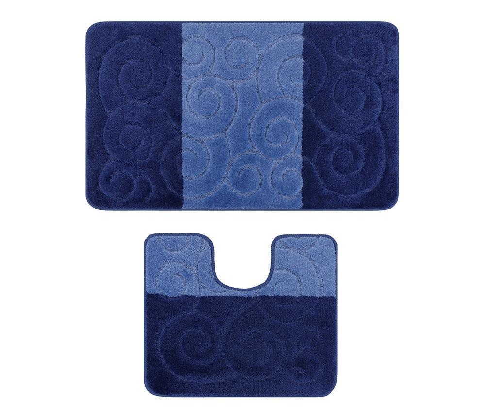Set 2 kopalniških preprog Silek Dark Blue