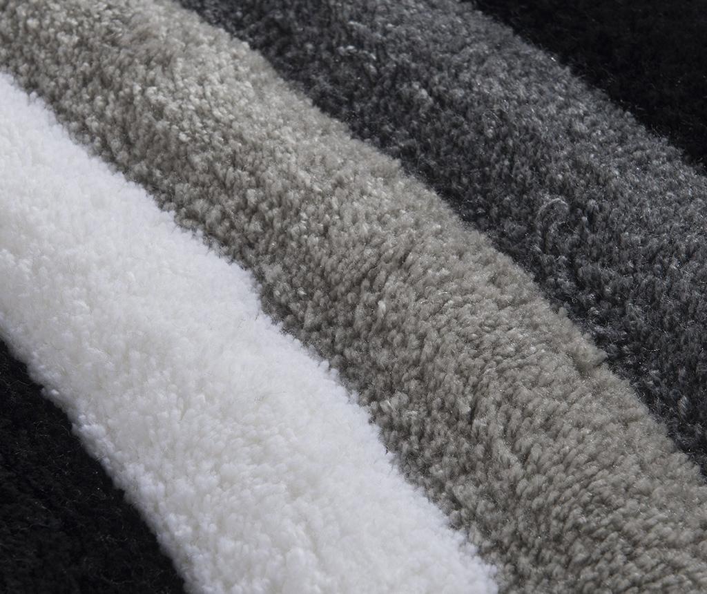 Covoras de baie Wavy Grey 50x60 cm