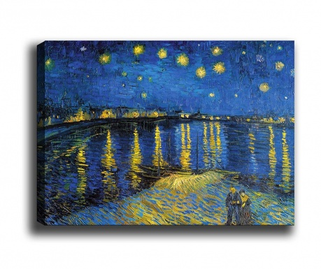 Tablou Starry Night Over the Rhone 50x70 cm