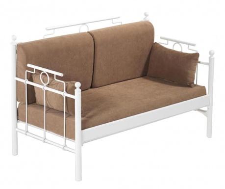 Canapea 2 locuri pentru exterior Hatkus White and Brown