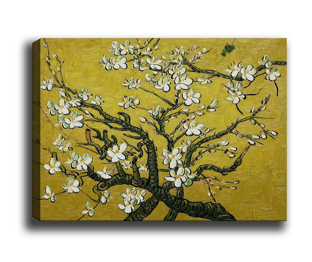 Tablou Branches of an Almond Tree in Yellow 40x60 cm