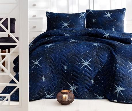 Sada s prešívanou prikrývkou Double Megastar Dark Blue