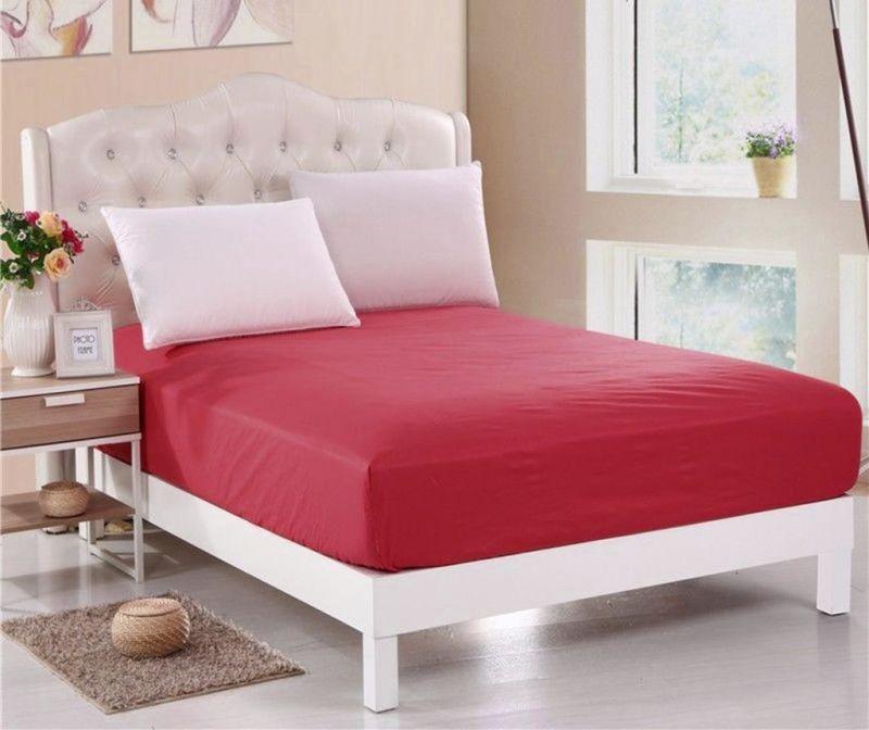 Долен чаршаф с ластик Orme Penye Red 160x200 см